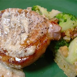 Cheese – Pork Chops With Blue Cheese Gravy