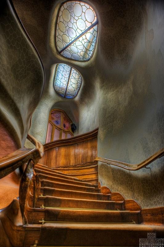 Staircase and Skylights, Casa Batllo, Barcelona