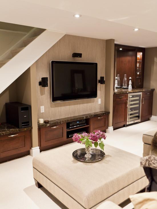 Basement Family Room And Bar (Toronto)